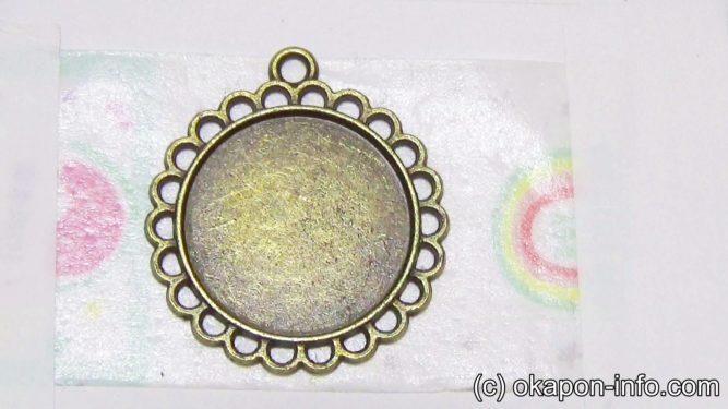 レジンでアクリル絵の具を塗る手順1