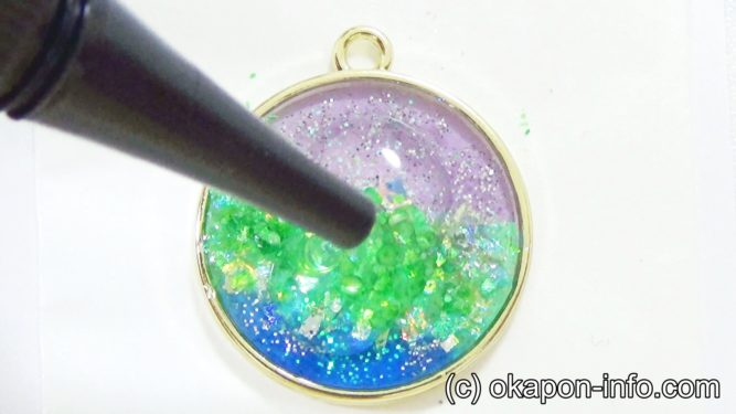 レジンでオーロラ塗りのやり方手順4