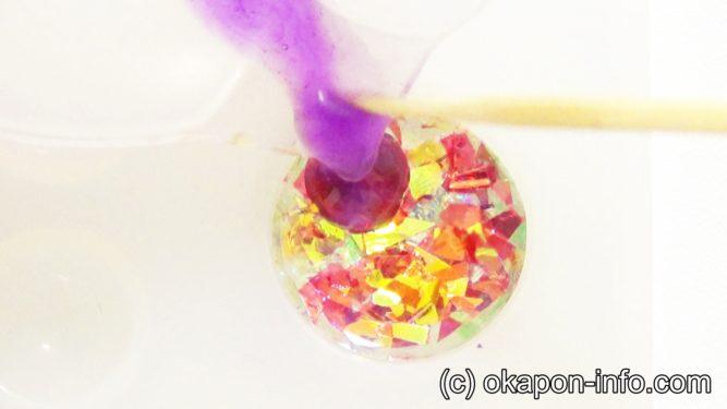 レジンで宝石の作り方手順3