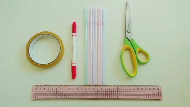 ストロー笛の作り方に必要な道具と材料