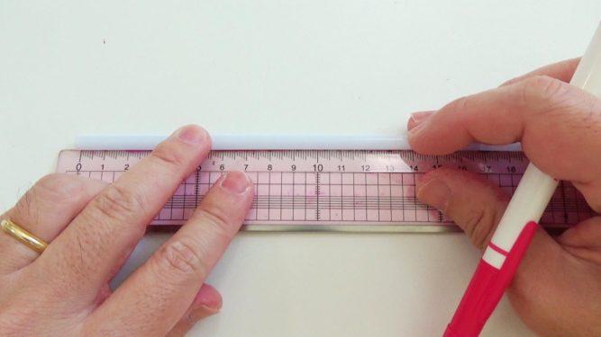 ストロー笛の作り方手順1
